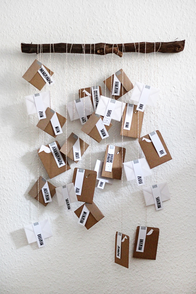 DIY Adventskalender Printable Freebie Zahlen